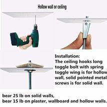 10 Sets Ceiling Hooks - Heavy Duty Swag Hook with Hardware for Hanging Plants Ce image 4