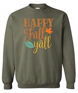 Happy Fall Ya'll Fall Leaves CREWNECK Sweatshirt Autumn Pumpkin Spice Se... - $28.86