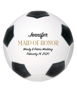 Maid of Honor Mini Soccer Ball Wedding Gift - Personalized Wedding Favor - $34.95