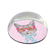 """Retro Cat Illustration 2"""" Crystal Dome Magnet or Paperweight - $15.99"""