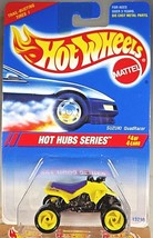 1995 Vintage Hot Wheels #311 Hot Hub Series 4/4 SUZUKI QUADRACER Yellow w/HH Sp - $8.50