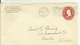 ISAAC LOCKE & CO. BOSTON, MASS. NOVEMBER 29, 1909  - $1.98