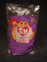 1998 McDonald's Teenie Beanie Baby Happy The Hippo New # 6 In Series - $1.35