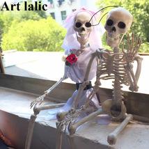 Art Lalic Skeleton Bride Groom Plastic For Halloween - $14.97+