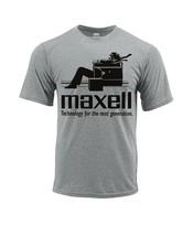 Maxell Dri Fit T-shirt moisture wick retro 70s blown away SPF graphic Sun Shirt image 2