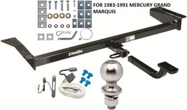 COMPLETE TRAILER HITCH PACKAGE W/ WIRING KIT FOR 1983-1991 MERCURY GRAND... - $224.91