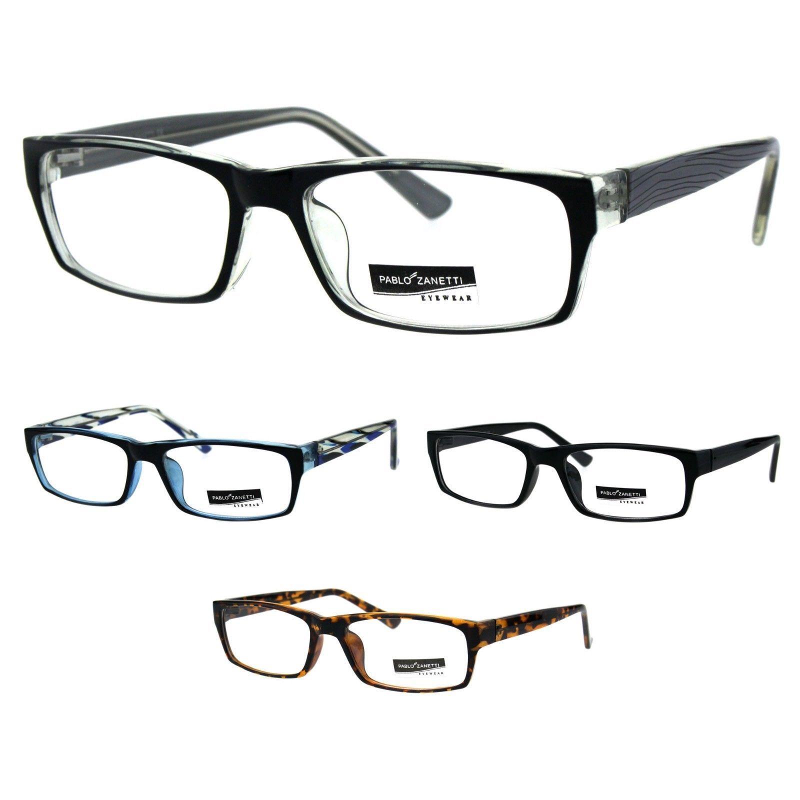 e975b735aa 57. 57. Classic Narrow Rectangular Professor Studious Plastic Eyeglasses  Frame
