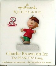 2010 Hallmark Keepsake Ornament - Miniature - Charlie Brown on Ice Peanu... - $4.94