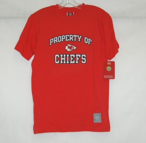 Kansas City Chiefs Reebok Gridiron Classic NFL T Shirt Large  Youth 14 to 16