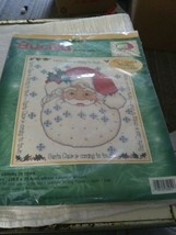 Bucilla Counted Cross Stitch Santa Claus Coming to Town Advent Calendar Picture - $14.84