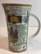 "Dunoon Fine Stoneware Mug By Caroline Dadd The Story of Golf 6""H Multi C... - $39.59"