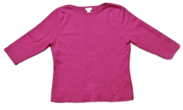 Investments 100% Fine Cashmere Ladies Sweater, Boatneck, 3/4 Length Sleeves, Med image 1