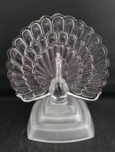 Vintage Garanti Cristal d'Arques 24% Lead Crystal Peacock Figurine, France - $24.75