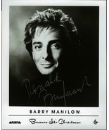 BARRY MANILOW  8 X 10 BW PHOTO SIGNED BECAUSE IT'S CHRISTMAS VERY RARE - $74.95
