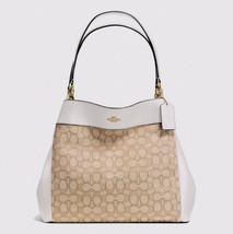 Coach F57612 Lexy Shoulder Bag Signature Jacquard  Handbag Purse Khaki C... - $126.72