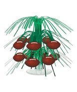 Club Pack of 12 Green and Brown Football Miniature Cascade Centerpieces ... - £40.86 GBP