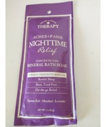 Natural Therapy Aches Pain Night Relief Concentrated Mineral Bath Soak 1... - $6.95