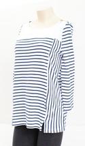 Jones New York Bluel & White Stripe 3/4 Sleeve Top Shirt Women's Large L... - $37.12