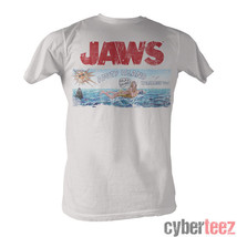 JAWS Amity Island Welcomes You White T-Shirt Brand New Authentic S-2XL - $16.95