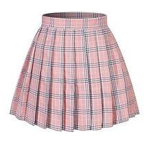 Beautifulfashionlife Women`s Japan School Plus Size Plain Pleated Summer Skirts  - $23.75