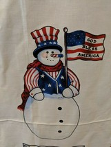 Sewing Fabric Daisy Kingdom #4726 Christmas Patriotic Snowman Door Panel - $12.07