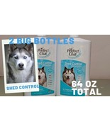 2 SHED CONTROL SHAMPOO BOTTLES 64 OZ COMBINED! PERFECT COAT DOGS  TROPIC... - $18.57