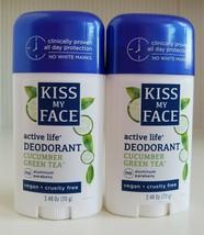 Kiss My Face Active Life Deodorant Cucumber Green Tea Scent Cruelty/Alum... - $24.75