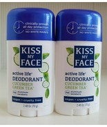 Kiss My Face Active Life Deodorant Cucumber Green Tea Scent Cruelty/Alum... - $24.75