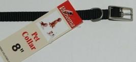 Valhoma 380 8 BK Dog Collar Black Single Layer Nylon 8 inches Package 1 image 1
