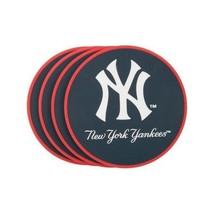 NEW YORK YANKEES 4 PACK HEAVY DUTY VINYL DRINK COASTER SET MLB BASEBALL - $13.92