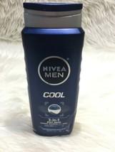NIVEA Men Cool 3-in-1 Body Wash Bottle 16.9 oz Bs12 - $5.89
