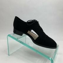 Nine West Niblo 7 M Black Suede Flat Loafer Oxford Lace Up Left Foot Only New - $15.00