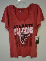 NFL Atlanta Falcons Womens Mineral Wash Short Sleeve T-Shirt Sz M NWT - $16.81