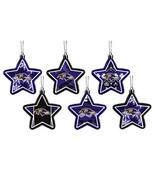 NFL RAVENS Team Logo Christmas Tree Snow flakes Ornament 6 Star Shapes H... - $14.00