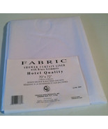 "New Creative Bath Shower Curtain Fabric Liner 70"" X 72"" White Mildew res... - $14.84"