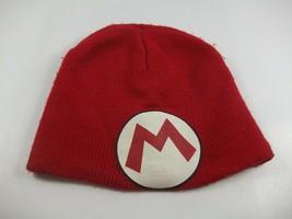 Super Mario Winter Hat Red M Nintendo Toque Beanie Stocking Cap - $15.18
