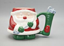 Santa Claus Golfing Golf Mug by Russ Berrie #12728 Pere Noel Golfeur Coffee - $21.95
