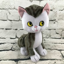 Kohls Cares Side-Eye Cat Plush Gray White Sitting Stuffed Animal Soft Toy - $9.89