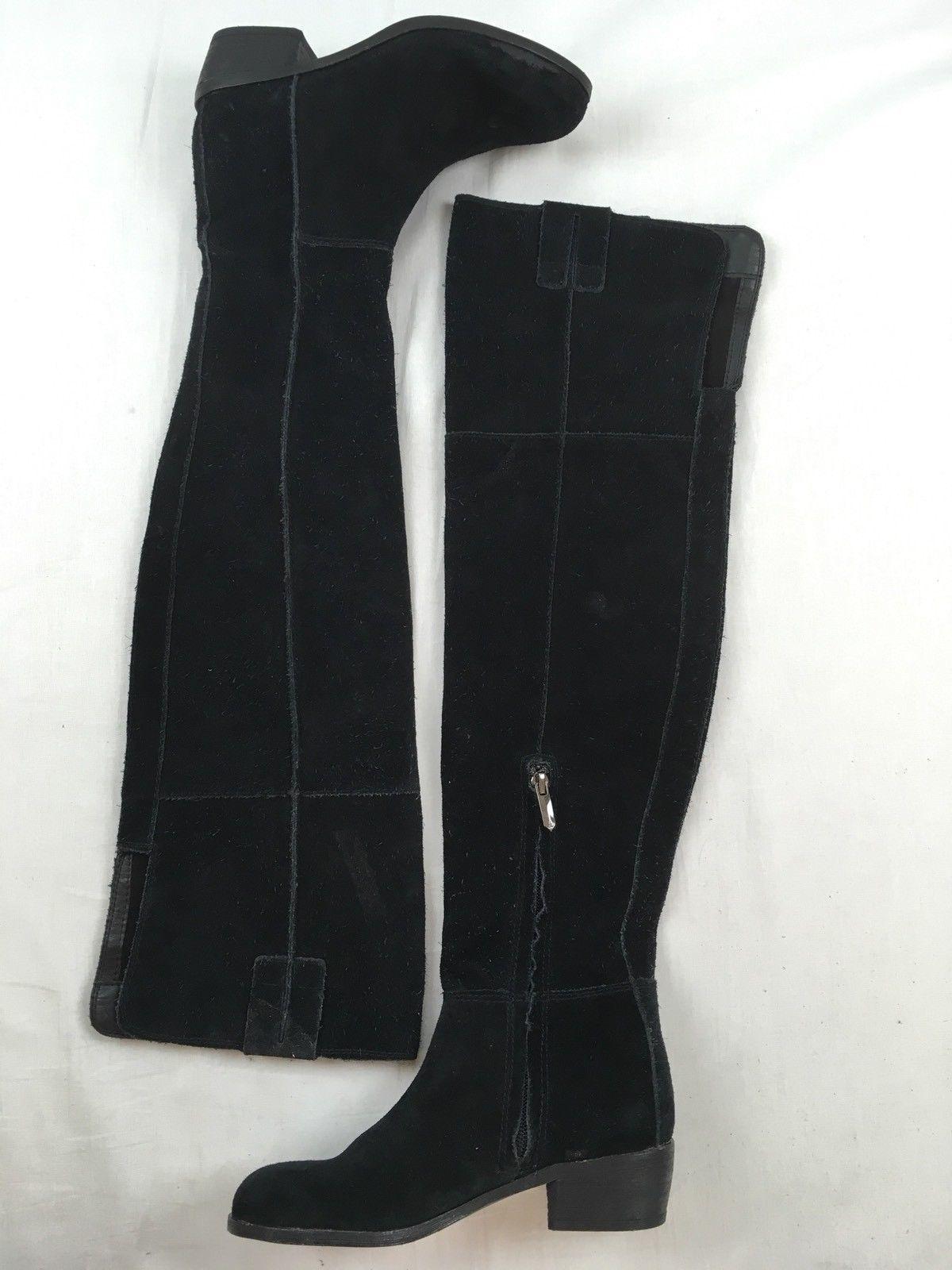 3f046dee4654  299 SAM EDELMAN Johanna Tall Leather Suede OTK Over The Knee Boots Black 4