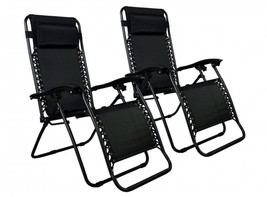 New Zero Gravity Chairs Case Of 2 Lounge Patio Chairs Outdoor Yard Beach... - $69.90+