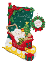 Bucilla 'Christmas Baby' Christmas Felt Stocking Stitchery Embroidery Ki... - $23.99