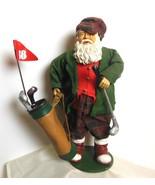 "Vintage Santa Golf Cloth and Resin 12"" - $24.00"