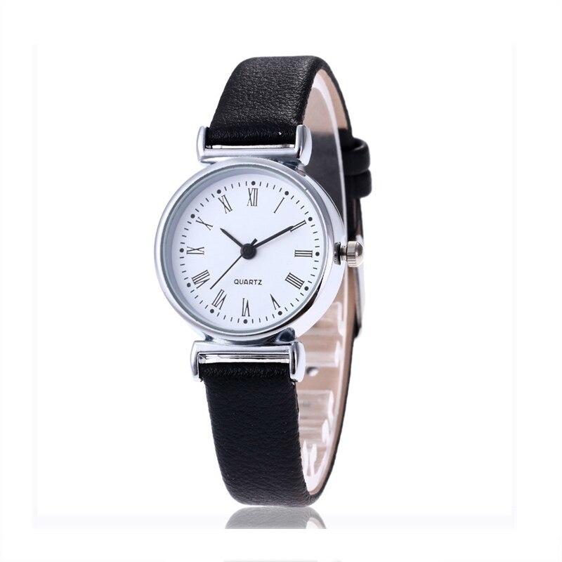 New Luxury Brand Women Watch Ultra Thin Vintage Leather Band Quartz Watch Fashio image 4