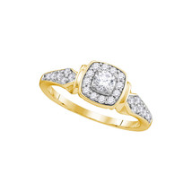 10k Yellow Gold Round Diamond Bridal Wedding Engagement Anniversary Ring 1/2 Ctw - $622.54