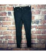 Mossimo Womens Premium Denim Leggings Pants Size 6 Black Skinny Jeans #279 - $14.84