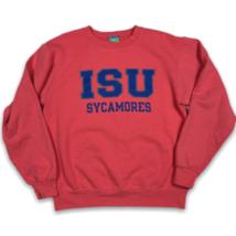 Champion ISU Indiana State University Pink Crew Neck Sweatshirt Eco Flee... - $22.50
