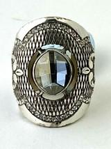 Brighton Love Padlock Ring, Silver Finish, Swarovski Crystals J61982 Size 5 New - $51.30