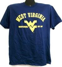 West Virginia Mountaineers Est. 1867 Navy Blue Tee Shirt Large - $13.99