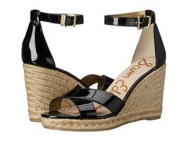 Women's Sam Edelman Brenda Wedge Sandals, E0567S1002 Sizes 5.5-10 Black Patent - $53.97