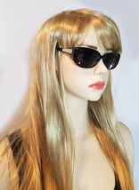 VERSACE Dioptric Sunglasses Black Gold Frames Crystals Aviator Square MOD3178-B - $185.15